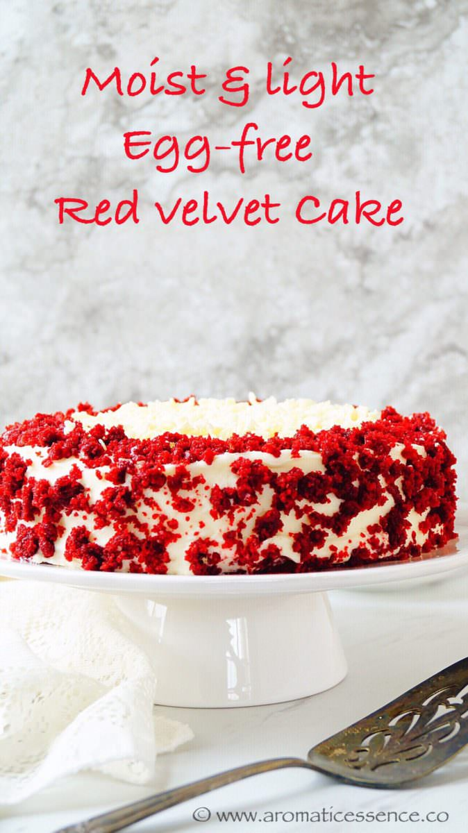 Fantastic Eggless Red Velvet Cake With Cream Cheese Frosting Aromatic Essence Birthday Cards Printable Benkemecafe Filternl