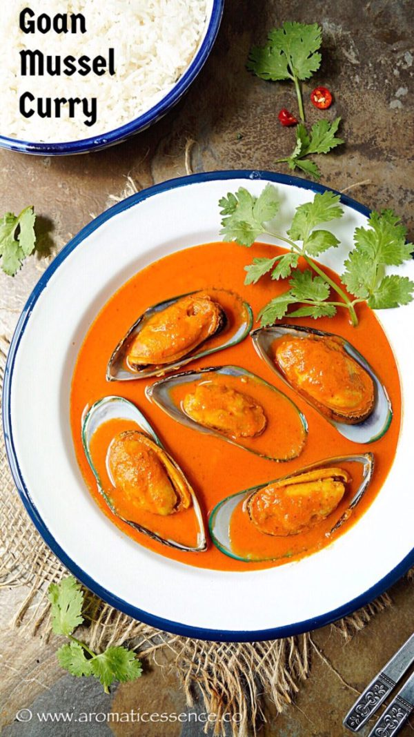 Goan mussel curry | Goan coconut-curry mussels