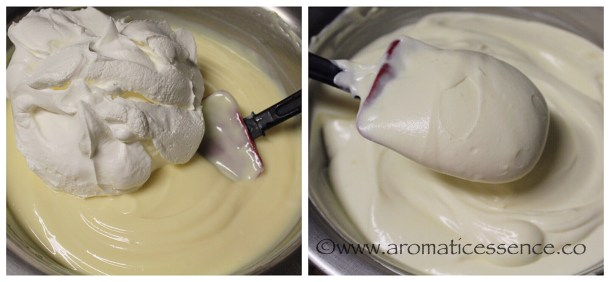 Fold the whipped topping into the cream cheese & pudding mixture