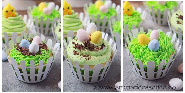 eggless Easter cupcakes
