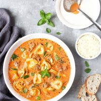 Instant Pot Tortellini Soup With Sausage