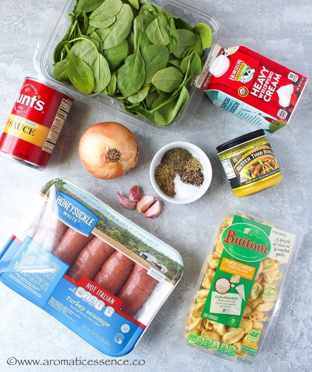 Instant Pot Tortellini Soup Ingredients