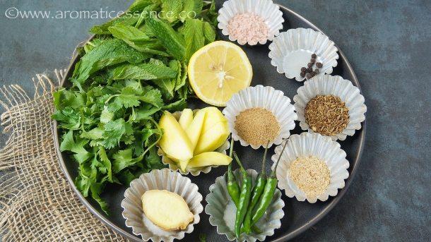 Ingredients for teekha pani