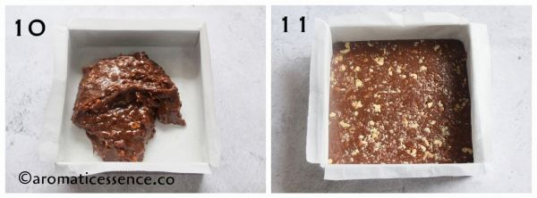 Transfer the fudge mixture to prepared pan, smooth out the surface.