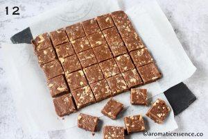 Fudge cut into squares