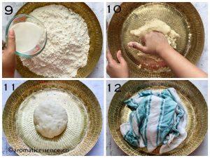 Knead a soft and elastic dough