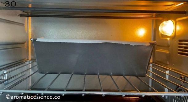 Atta cake baking in the oven
