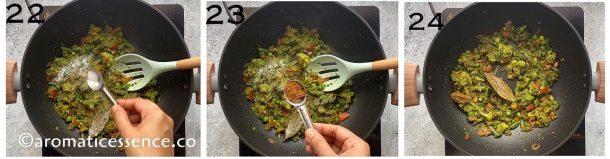 Add salt and garam masala