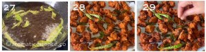 Slit green chilies and curry leaves deep-fried in oil and chaat masala sprinkled all over the pakoras