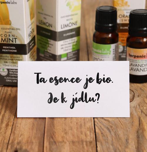 Můžeme bio esenciální oleje používat při vaření?