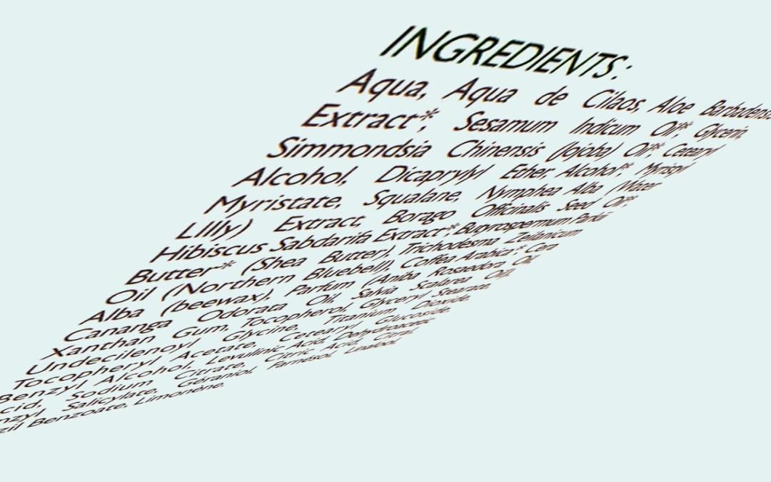 ¿Sabes leer el INCI  (International Nomenclature Cosmetic Ingredient), de los productos que compras?