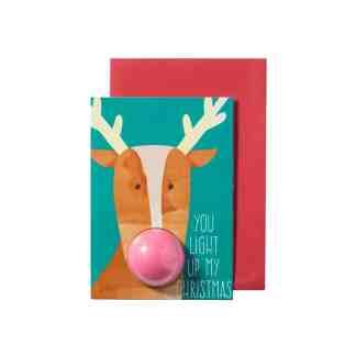 Tarjeta de navidad con Bomba - Rudolph