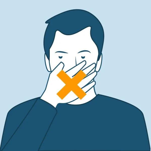 non tocar ollos, boca ou nariz