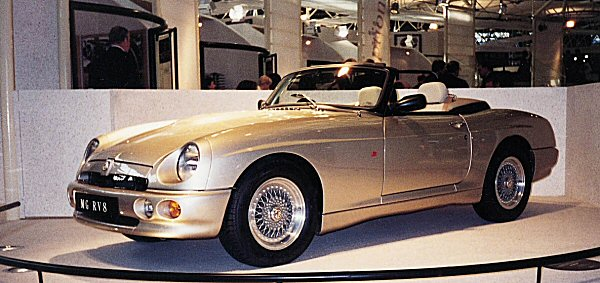 MG RV8 at launch; it proved something of a hit in Japan.