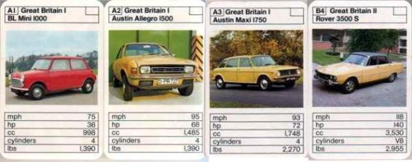 "This is from a ""British Cars vs. French Cars"" pack from the early Seventies. The German registered Allegro is interesting for the fact that I can't imagine many Germans wanted the car.Also do you notice that the Allegro apparently weighs the same as the Mini???"