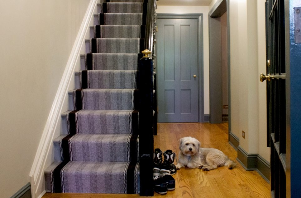 Greenwich Village Brownstone Stair Runners Landings Aronsons   Runners On Stairs With Landings   Roger Oates   French Tuck   Annie Selke   Before And After   Runners Up