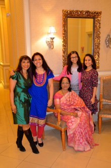 My sis-in-law, my nieces and my mom