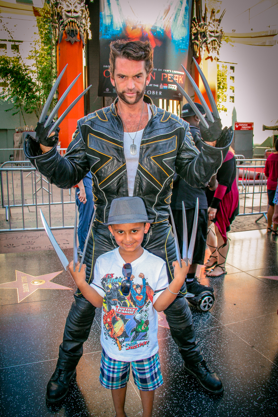 Shivam With A Wolverine Impersonator