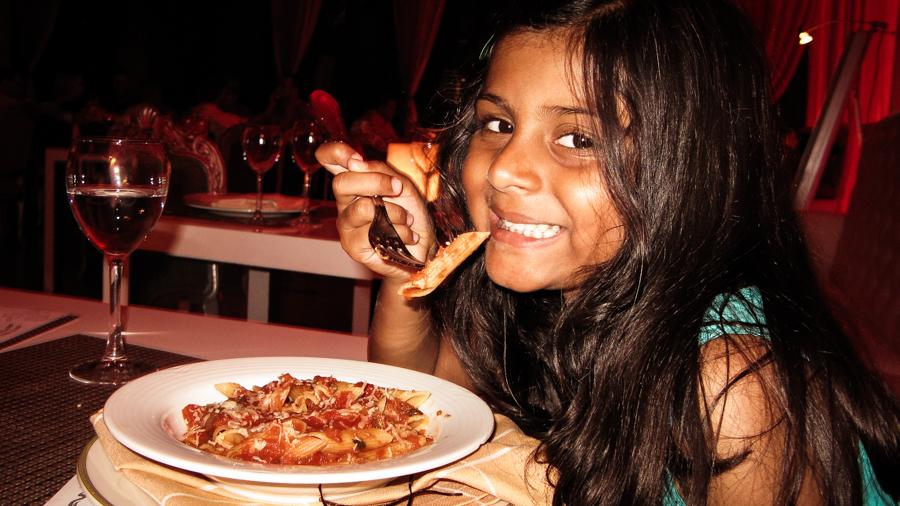 Shalini Enjoys Some Pasta
