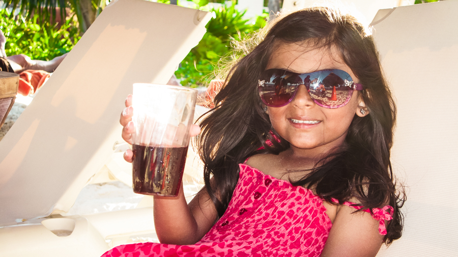 Shalini Enjoys A Cold Drink