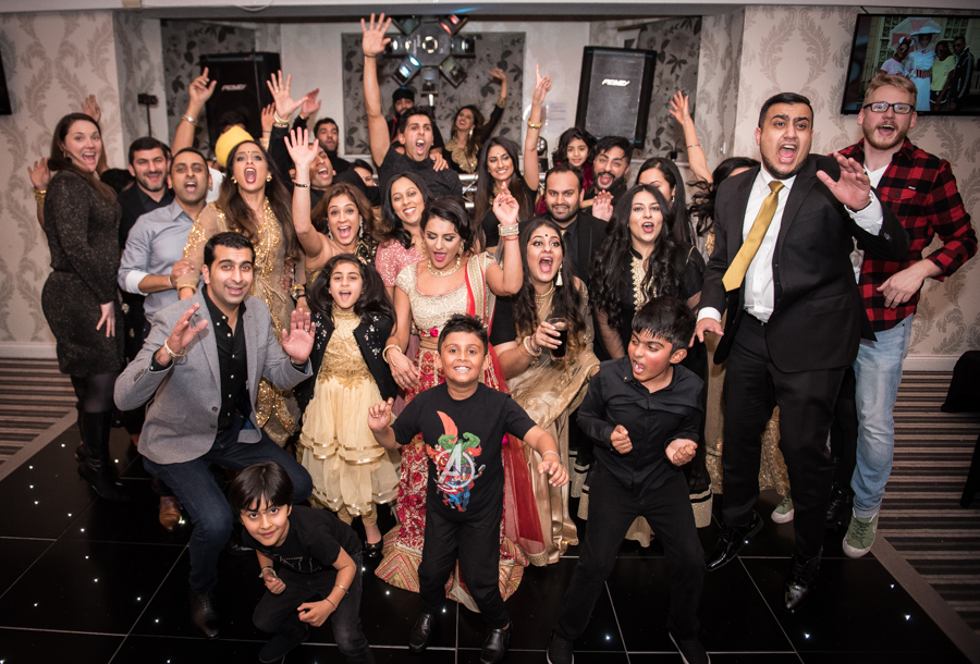 My Big Bash at 40 - Me and my guests end the night with a photo and a jump!