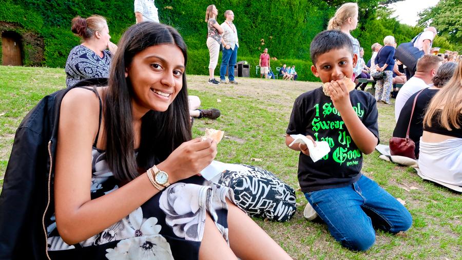 Slaying Dragons - Shalini and Shivam enjoy their food