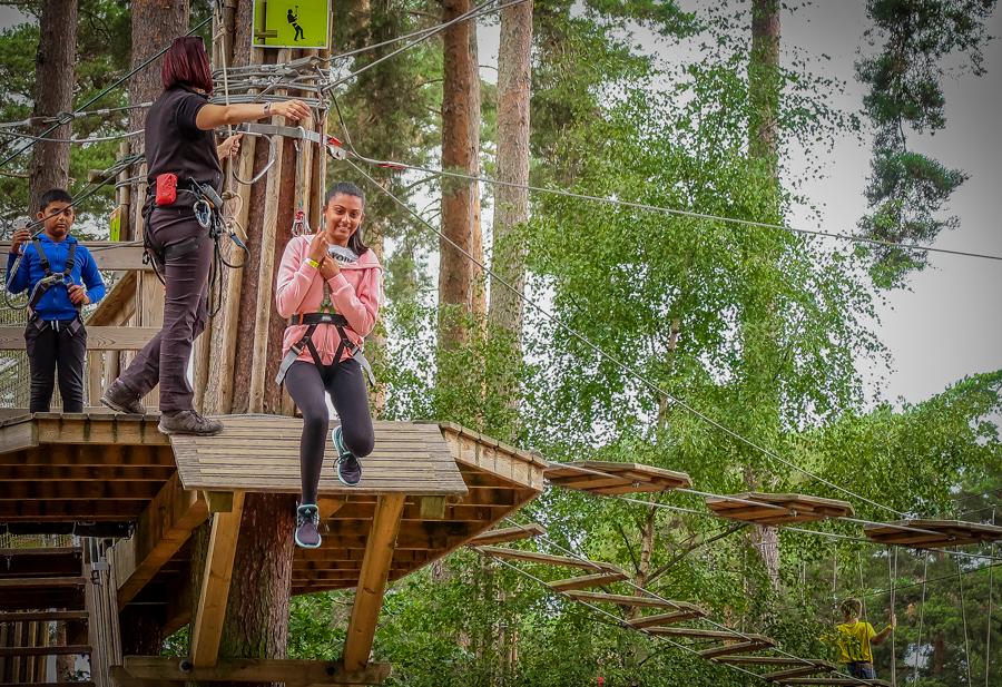 Go Ape - Shalini on the zipwire