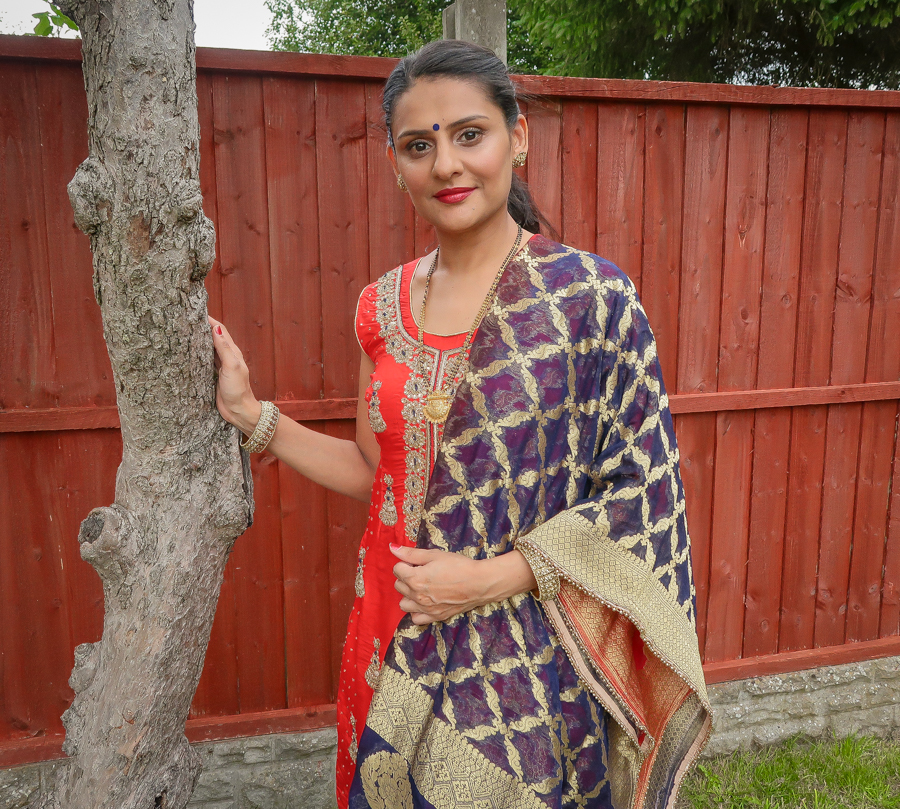 What I Wore - Red Salwar Kameez