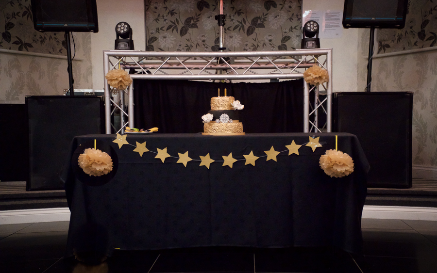 My Big Bash at 40 - My cake table