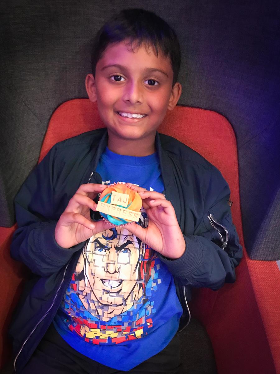 Taj Express - Shivam enjoys a cupcake