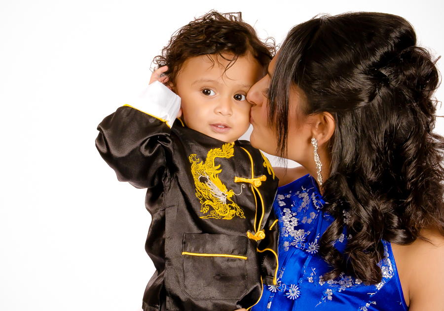 A Poem For Shivam - Me and Shivam on his first birthday