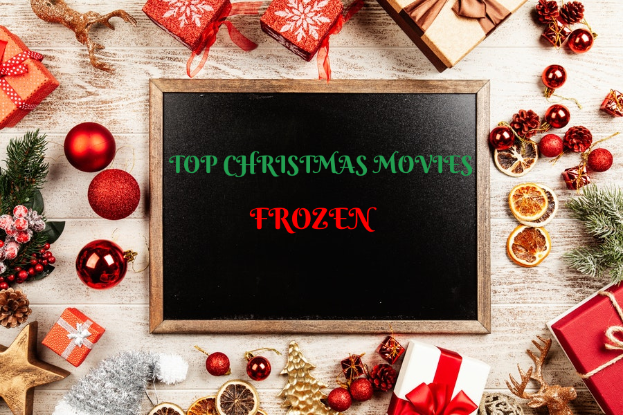 Christmas Movies - Frozen sign