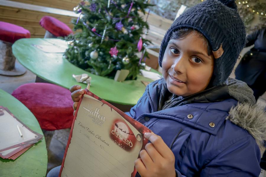 Visiting Santa At Hatton - Writing To Santa