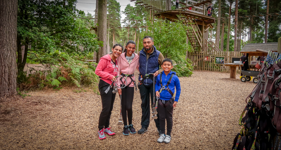 Me, Sukh and the kids at Go Ape