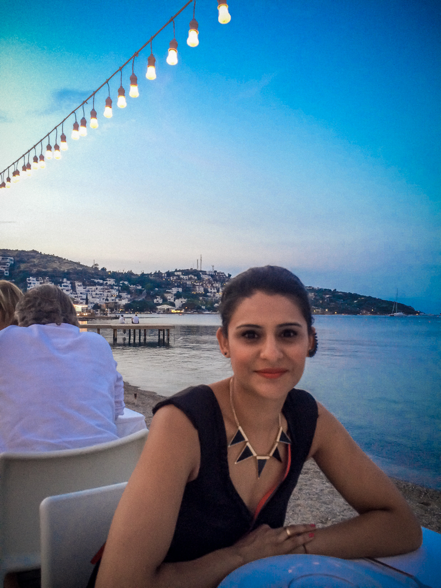 Me on an evening out in Bodrum, Turkey