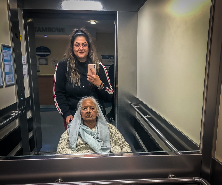 The Coronavirus Diaries - Part 4 - Amrit with her gran at a hospital appointment