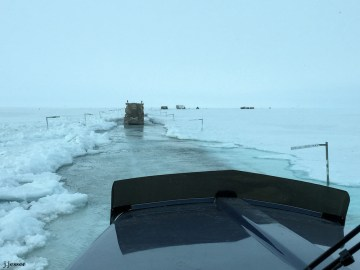 Sag River flooding the Dalton Highway