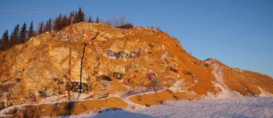 Graffiti hill near North Pole, Alaska - Around Alaska by Judy Jessee
