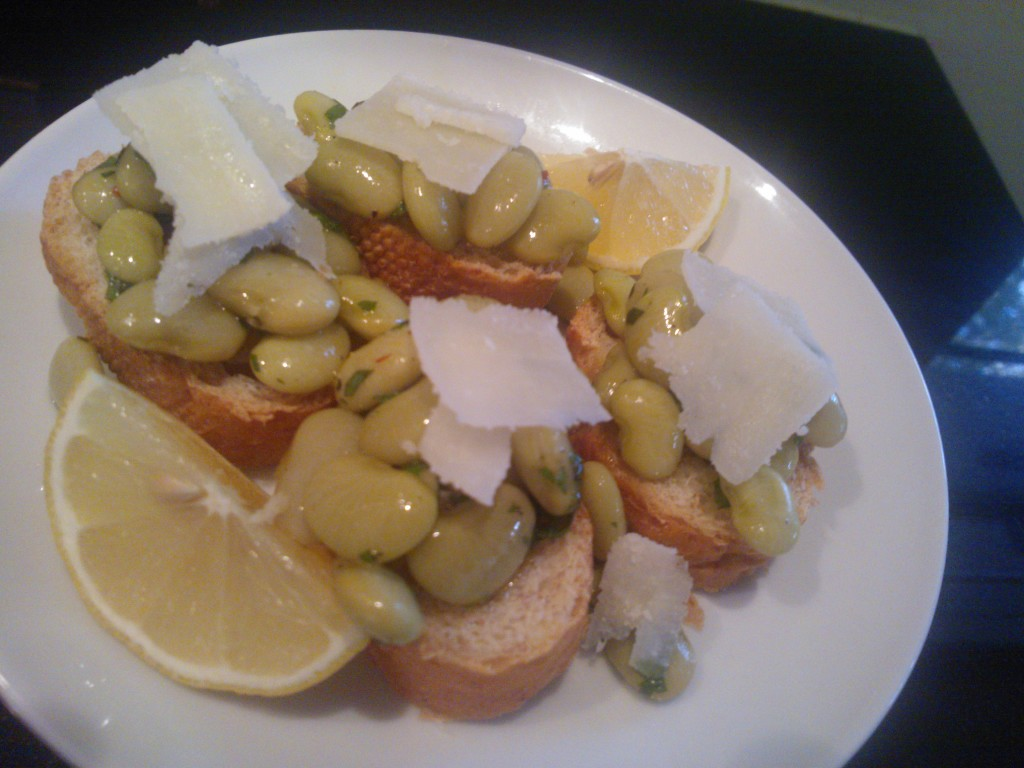 Lima Bean Amp Pecorino Crostini With Mint