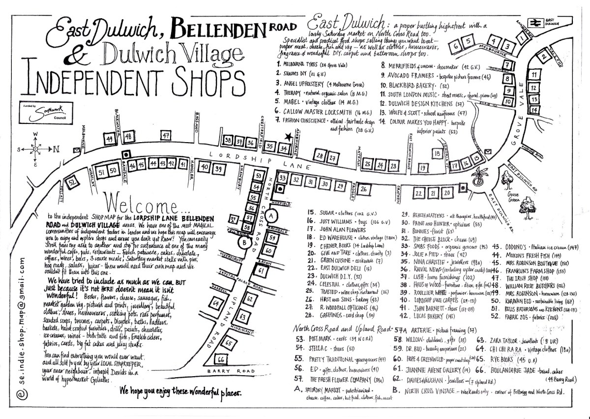 Illustrated Map of our High Street is a Big Hit with Local Shop Owners