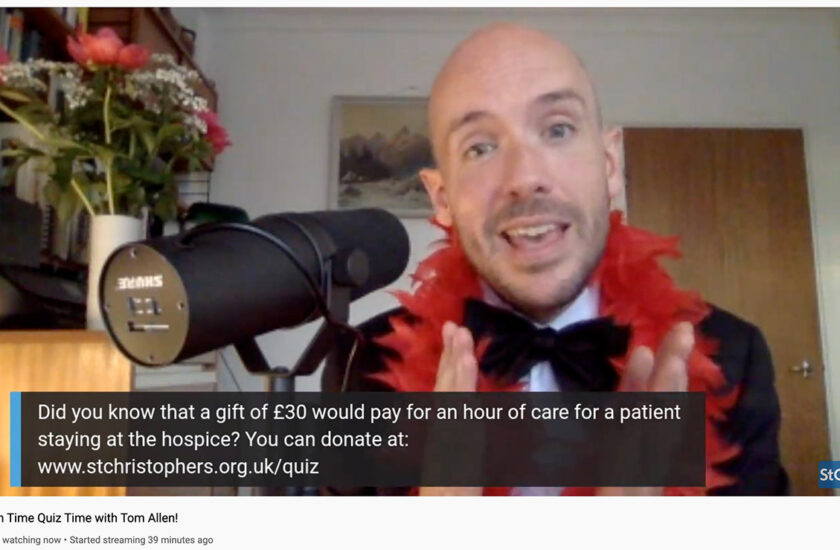 Local Comedy Star Tom Allen helps raise nearly £12K for South East London's St Christopher's Hospice