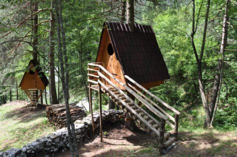 Una delle casette sull'albero del Tree Village a Claut (PN)