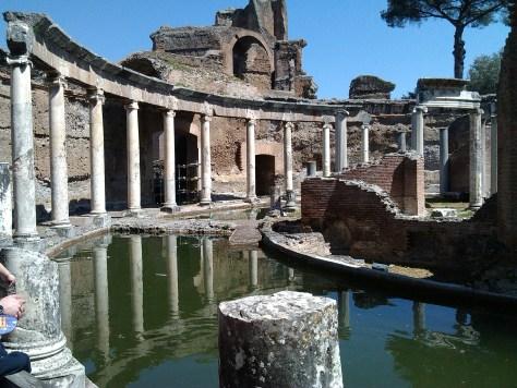 Roma con i bambini Villa Adriana. Tivoli Roma.