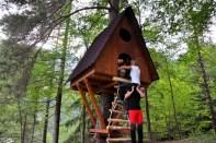 Costruire una casa sull'albero. Soggiorno per famiglie al Tree Village