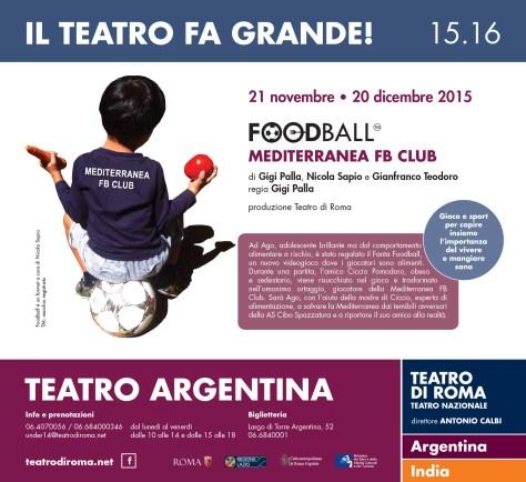 Locandina FoodBall-teatro Argentina-Roma