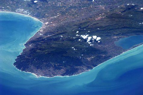 Il Gargano visto dalla Stazione Spaziale internazionale