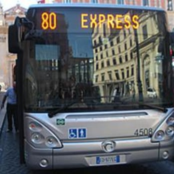 roma con i bambini autobus express
