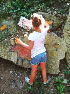 Parco Palafitte di Ledro-pitture rupestri