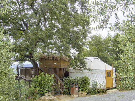 casa sull'albero- treehouse-yurta-la prugnola-toscana