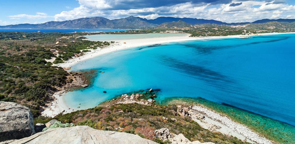 Italy, Sardinia, Villasimius, Porto Giunco beach